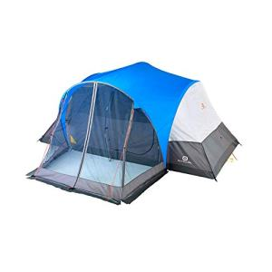 Outbound 8-Person Tent | Dome Tent for Camping with Screen Porch and Carry Bag| Perfect for Backpacking and The Beach | Blue