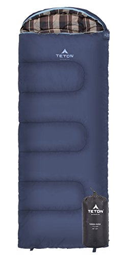 TETON Sports Celsius Junior Kids Sleeping Bag; Perfect for Camping, Traveling, and Sleepovers; Start Their Camping Experience Off Right with this Sleeping Bag; Stuff Sack Included