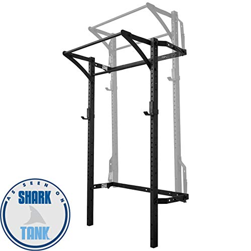 Murphy Rack Fold Up Squat Rack, Wall Mounted Folding Power Rack, 90 Inch Uprights, Space Saving Power Rack, Home Gym Equipment, Pull Up Bar, Heavy Duty J-Cups, Fitness Equipment