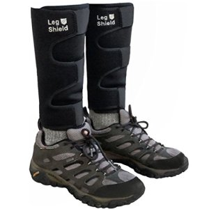 Neoprene Leg Gaiters - Unique Velcro Design for Easy On/Off - for Biking, Outdoors, Hiking, Yard Work, and General Shin/Calf Protection - Comfortable, Snug Fit (Pair)