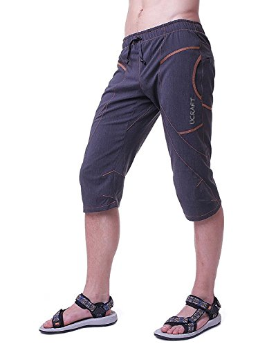 "Ucraft ""Xlite Rock Climbing Bouldering and Yoga Knickers ¾ Men's and Women's Capri Pants. Lightweight, Stretchy, Breathable"
