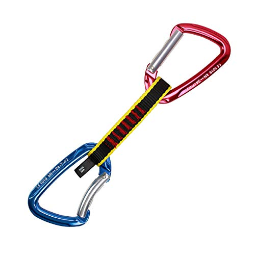Geelife Crag Express Quickdraw Set CE Certified Rock Climbing Gear Quickdraws  Quick Draw Set: pack 6 is perfect to complete your outdoor equipment.