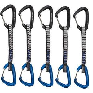 Metolius 5 Pack Bravo II Wiregate Quickdraw - Black/Blue 6""
