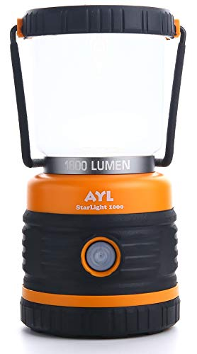 AYL LED Camping Lantern, Battery Powered LED with 1800LM, 4 Light Modes, Perfect Lantern Flashlight for Hurricane, Emergency Light, Storm, Power Outages, Survival Kits, Hiking, Fishing, Home and More
