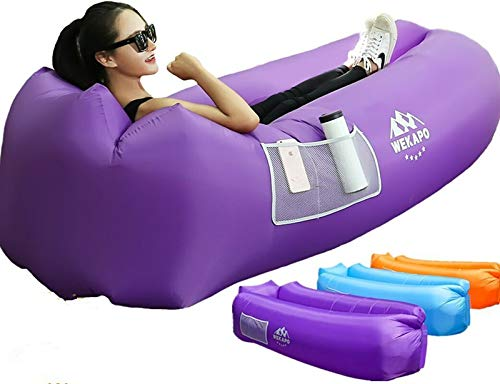 Wekapo Inflatable Lounger Air Sofa Hammock-Portable,Water Proof&Anti-Air Leaking Design-Ideal Couch for Backyard Lakeside Beach Traveling Camping Picnics and Music Festivals
