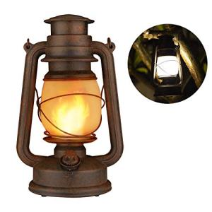 LED Vintage Lantern, Realistic Flicker Flame Outdoor Hanging Lantern Battery Operated Camping Night Lights with Remote Landscape Decorative for Garden Patio Deck Yard Path 1 Pack (Copper)