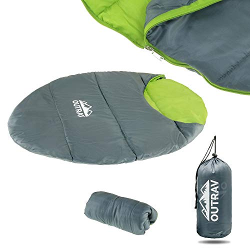 Outrav Dog Sleeping Bag - Camping Dog Bed - Extra Durable Waterproof Dog Sleeping Bag Bed - Packable Dog Bed for Camping, Hiking, Cottage and Beach – Portable Dog Bed with Stuff Sack