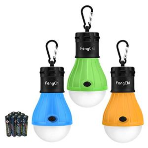 FengChi LED Camping Lantern, [3 Pack] Portable Outdoor Tent Light Emergency Light for Camping, Hiking, Fishing,Hurricane, Storm, Outage (MultiGreenbo1)