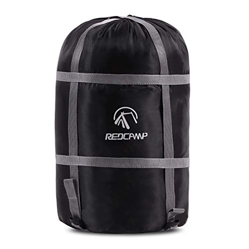 REDCAMP Sleeping Bag Stuff Sack, Compression Sack, Great for Backpacking and Camping Black Heavy Duty XXL