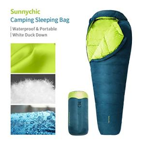 Camping Sleeping Bag, Mummy Sleeping Bag with Compression Sack - 3 Seasons Waterproof for Adults and Kids, Lightweight Warm Washable Backpacking Sleep Bag for Hiking Traveling Outdoor and Indoor.