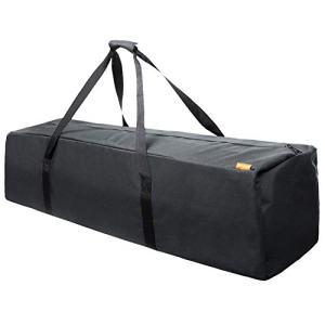 INFANZIA 45 Inch Zipper Duffel Travel Sports Equipment Bag, Water Resistant Oversize, Black