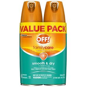 OFF! Family Care Insect and Mosquito Repellent I, Smooth and Dry Bug Spray for the Beach, Backyard, Picnics and More, 4 oz. (Pack of 2)