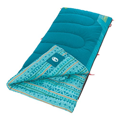 Coleman Kids Sleeping Bag | 50°F Sleeping Bag for Kids | Cool Weather Sleeping Bag, Teal