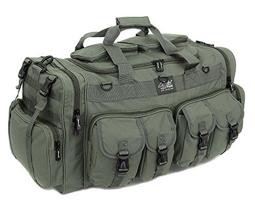 """Mens Large 30"""" Inch Duffel Military Molle Tactical Cargo Gear Shoulder Bag OD Green"""