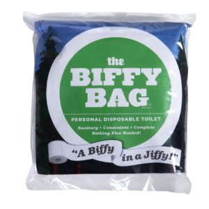 Biffy Bag Pocket Size Disposable Toilet (Pack of 25), Classic