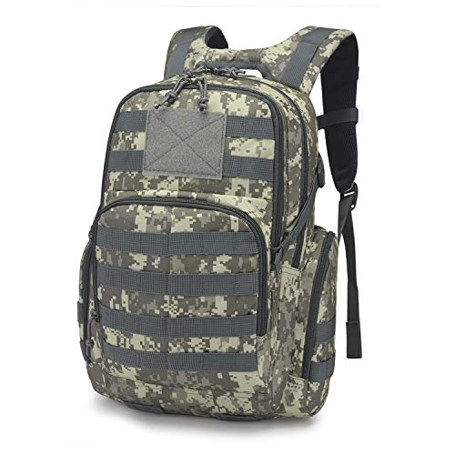 Mardingtop 25L Tactical Backpacks Molle Hiking daypacks for Motorcycle Camping Hiking Military Traveling 25L-Camo Grid