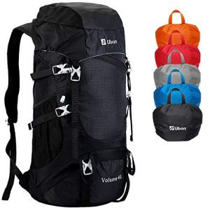 Ubon Camping Backpack Packable Daypack for Hiking Backpacking Travelling Black