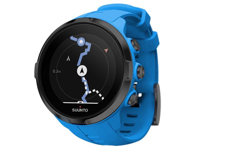 De Suunto Spartan Sport Wrist HR heeft begeleide route-navigatie, een digitaal kompas en hoogtemeting op basis van GPS aan boord.