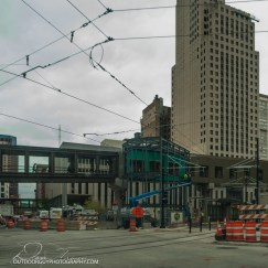 St. Paul light rail under construction