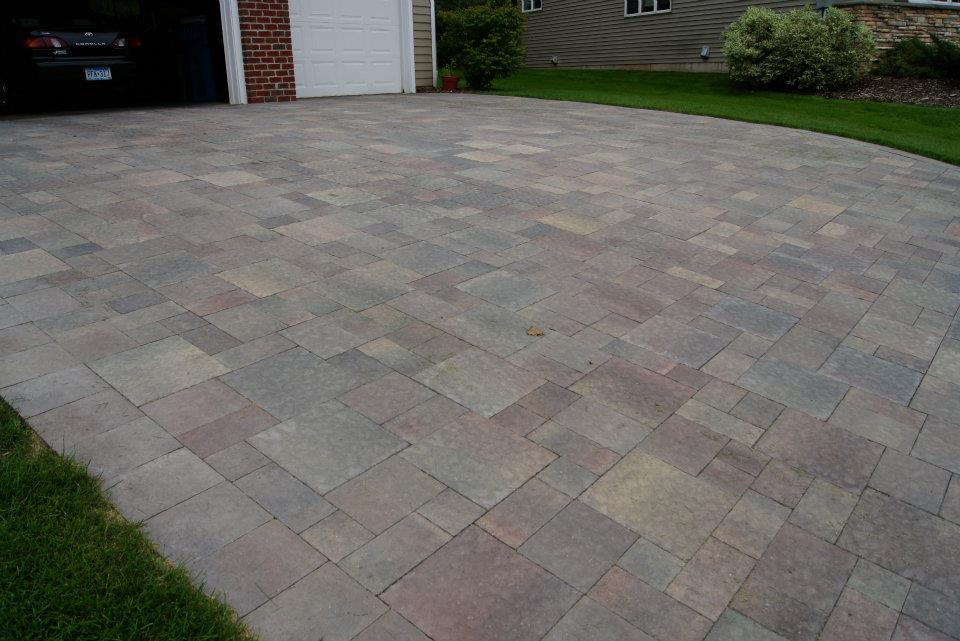 pavers vs stamped concrete outdoor