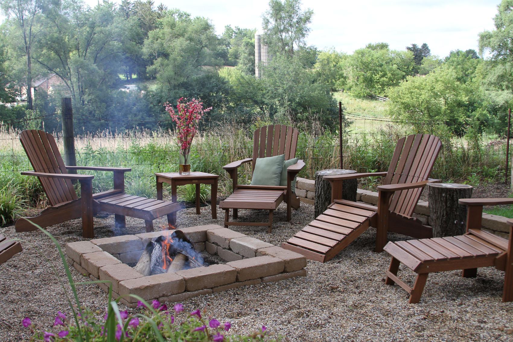 eucalyptus wood adirondack chair with
