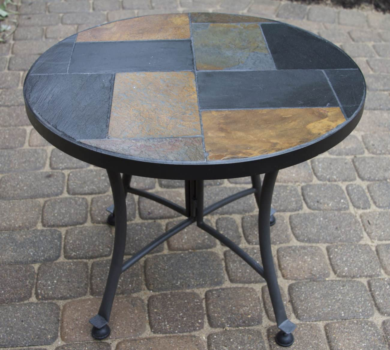 24 Quot Mosaic Slate Accent Table For Decks Patios And Gardens