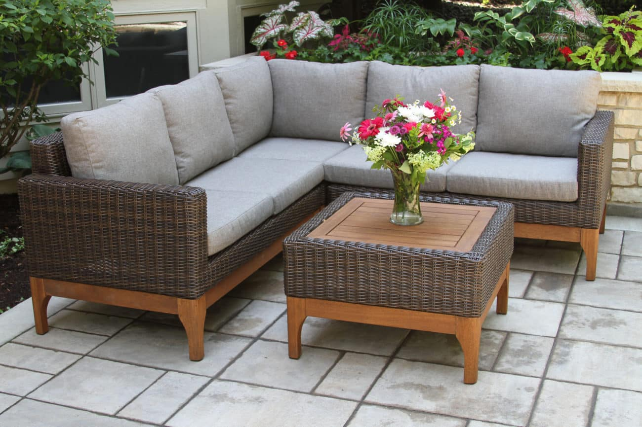 Outdoor Sofa With Chaise Outdoor Patio Lounge Furniture
