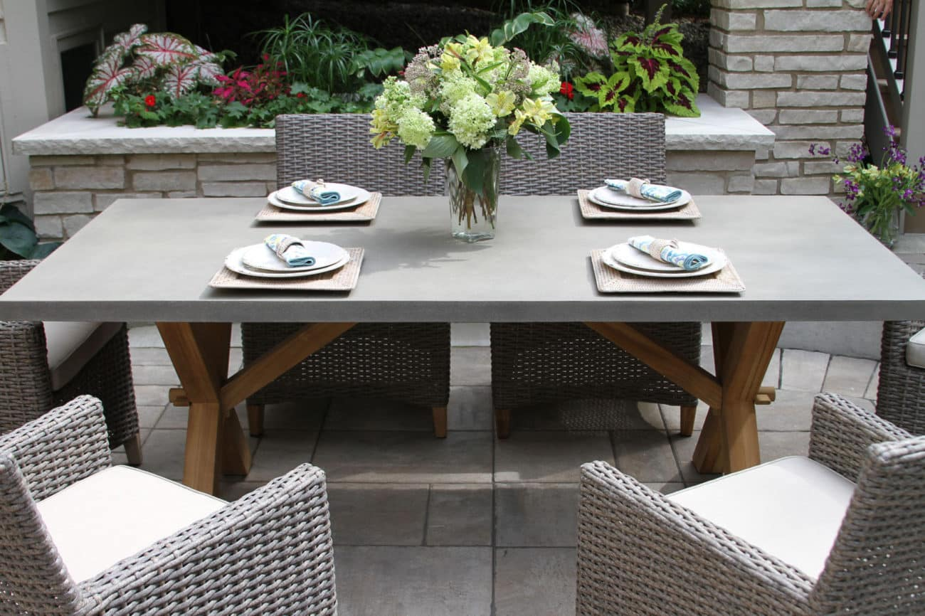 composite rectangle dining table with