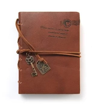 Leather Cover Diary and Travel Journal