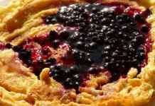 Pfannkuchen mit Blaubeere