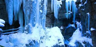 Klammwanderung im Winter