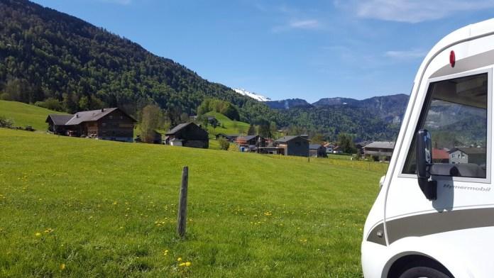 Andelsbuch camping wohnmobilstellplatz 12