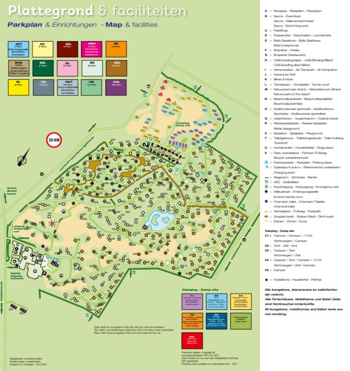 Landal Sluftervallei Lageplan