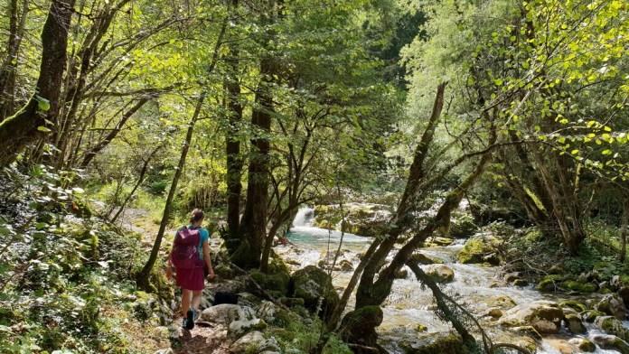 slowenien mit kindern soca tal wanderung lepena sunikov wasserfall