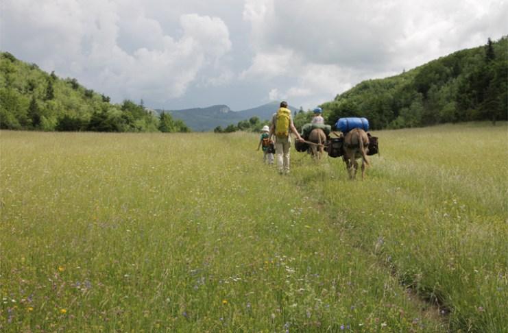 Eselwandern mit Kindern in Frankreich