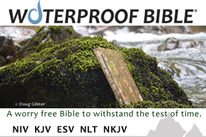 Waterproof Bible Ad