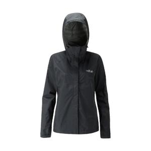 [Rab] Women's Downpour Jacket 防水透氣連帽外套 黑 (QWF-63-BL)