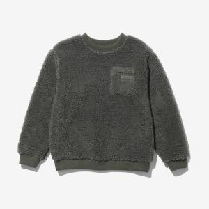 [WILD THINGS] FLUFFY BOA L/S CREW 絨毛圓領長袖上衣/軍綠 (WT21126N)
