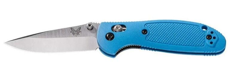 benchmade-mini-griptilian-messer-blau-154CM-gerade-1152x384
