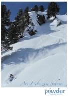 Postkarte Powder Dez 2010