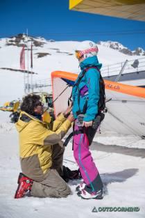 Gurtzeug anpassen Airtaxi St Moritz