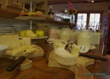 Käse und Joghurt beim Frühstücksbuffet im Casa da Luzi