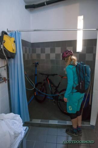 Bike-Waschraum im La Barca Blu