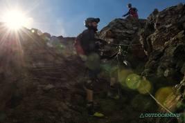 Hochalpines Gelände am Passo Zebru mit Hike-a-Bike-Passage, aber runter...