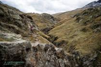 Technische Trail Passagen vom Passo Gavia