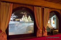Aussicht in den Schnee vom Restaurant Goldener Berg