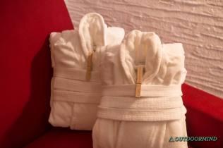 Bademäntel auf dem Zimmer Hotel Goldener Berg