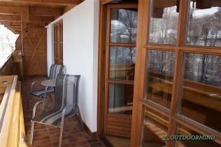 Balkon vom Zimmer aus