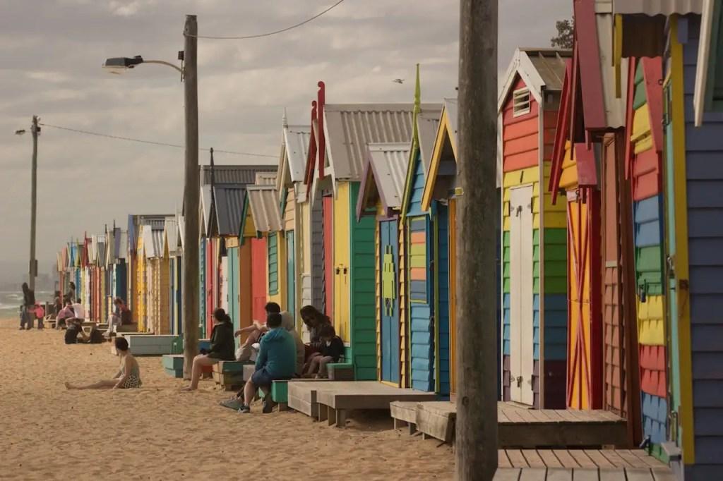Brighton Beach Strandhäuser