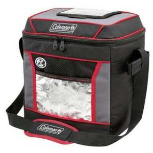 Coleman Soft Cooler 30 Cans black red